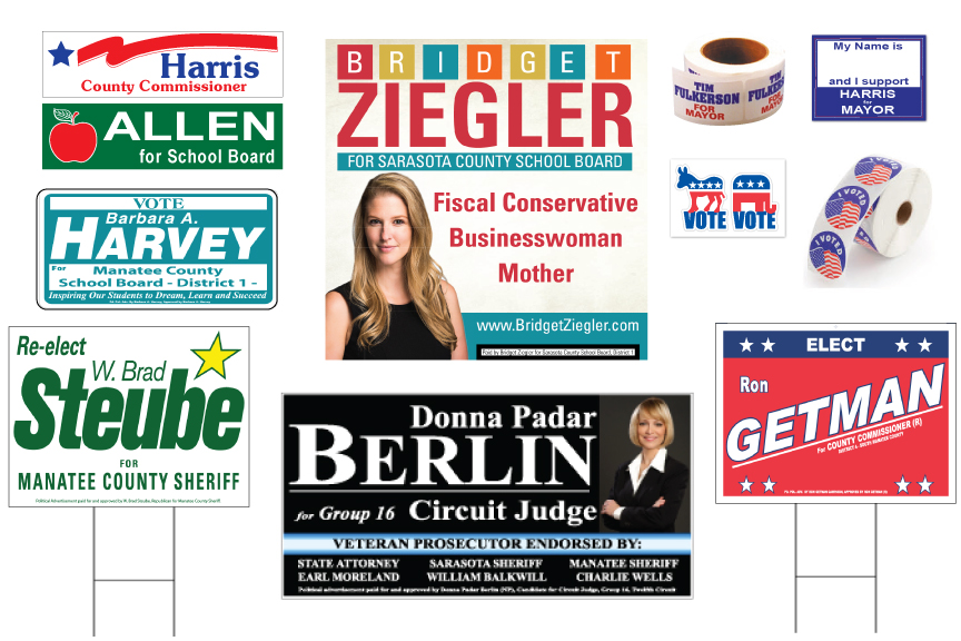 Political Sign Examples