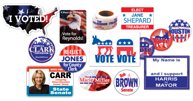 Political Sticker Examples
