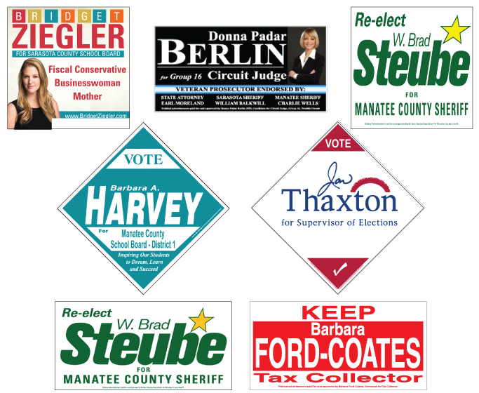 Political Road Sign Examples