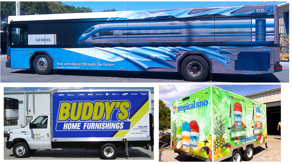 Fleet Graphics & Vehicle Wraps from Sun Graphic Technologies, Sarasota, FL
