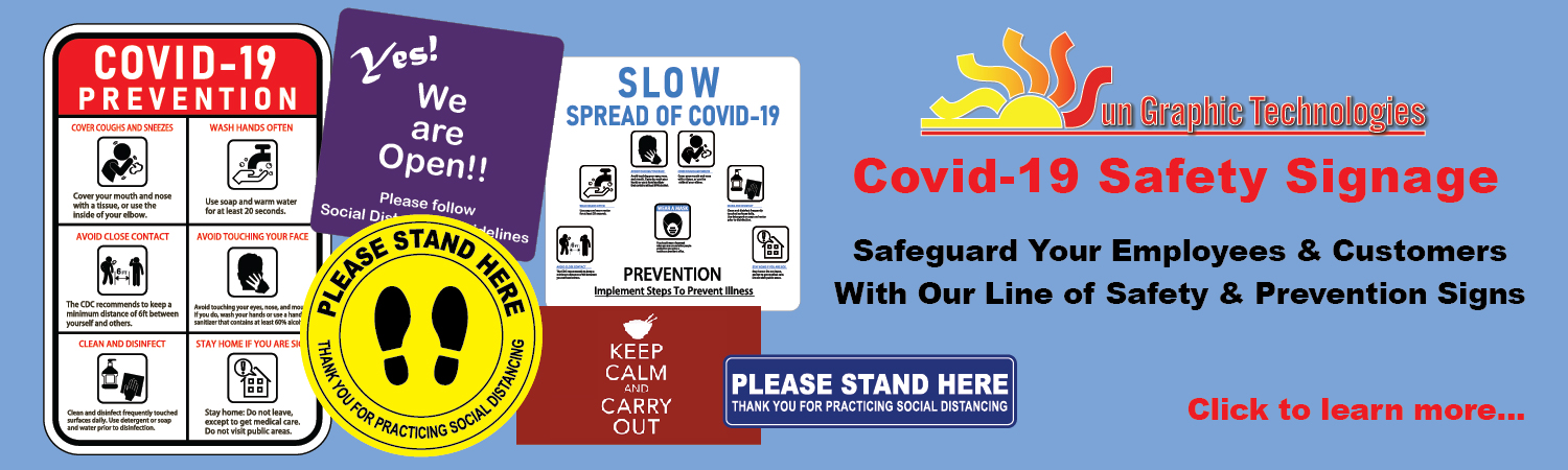 Covid-19 Safety Signage & Graphics