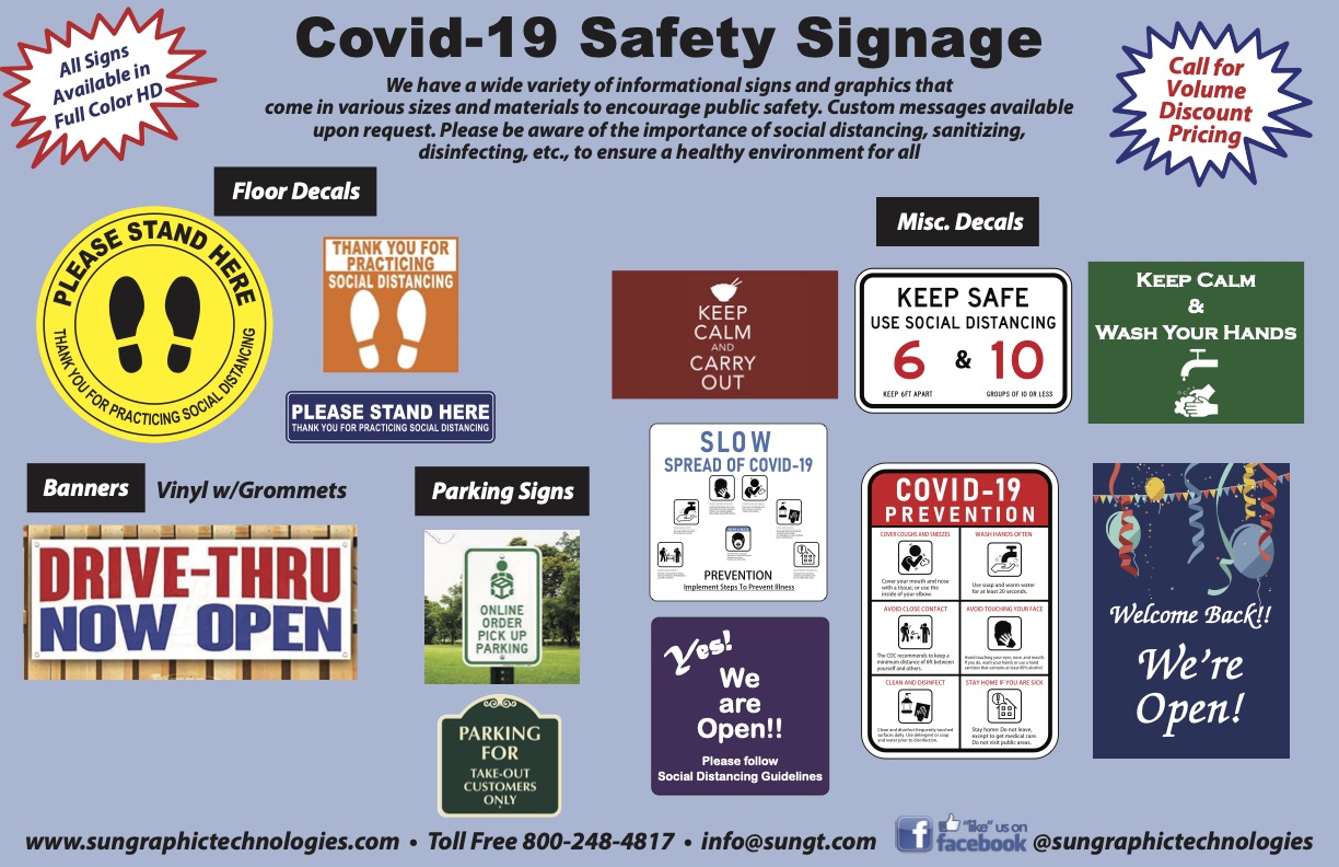 Sun Graphic Technologies Covid-19 Safety Signage Brochure 2020